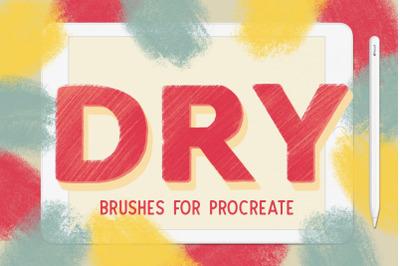 Procreate Dry Texture Brushes