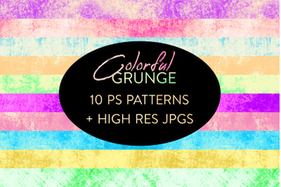 Seamless Colorful Grunge Patterns