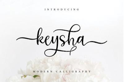 Keysha Script Font