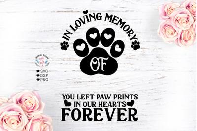 In Loving Memory Of - Pet Memorial Cut File