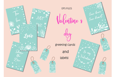 Valentine s Day cards snd labels