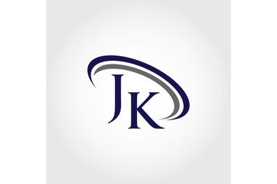 Monogram JK Logo Design