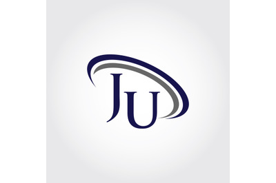 Monogram JU Logo Design