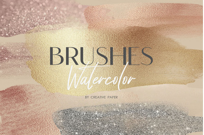 Watercolor Brushes (PNG) 70 Textures