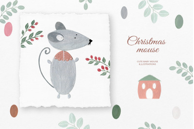 Christmas mouse png clipart