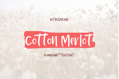 Cotton Merlot - a handwritten crafting font