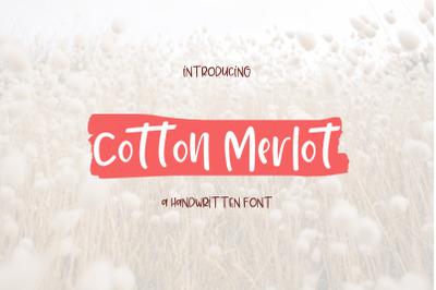 Cotton Merlot - a handwritten crafting font