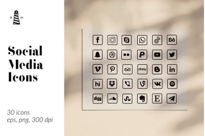 Square Social Media Buttons