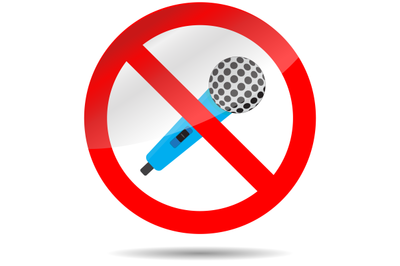 Icon ban microphone