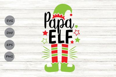 Papa Elf Svg, Christmas Svg, Elf Svg, Dad Svg, Elf Hat Svg, Funny Svg.