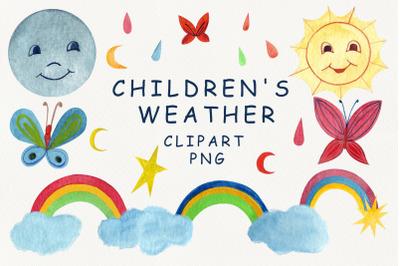 Children's weather clipart
