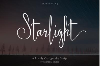 Starlight - Lovely Calligraphy Font