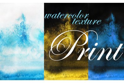watercolor texture. print and ocean
