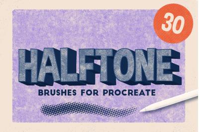 Procreate Halftone Brushes