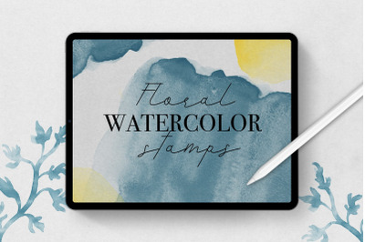 Procreate Floral Watercolor Stamp Brushes