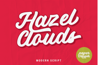 Hazel Clouds Modern Script