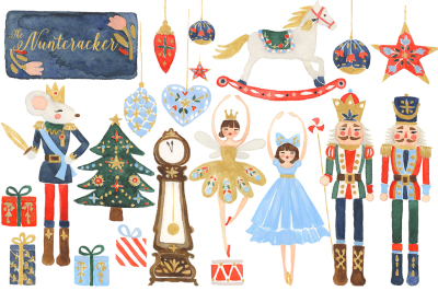 Watercolor Nutcracker Christmas Kit