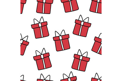 Christmas presents seamless repeat pattern