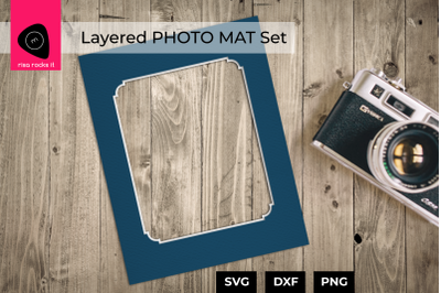Layered Photo Mat Set | SVG | PNG | DXF