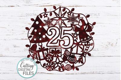 25 December Christmas Ornament Porch T shirt sign design svg