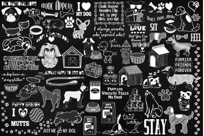 Chalk Doggie Doodles Clip Art