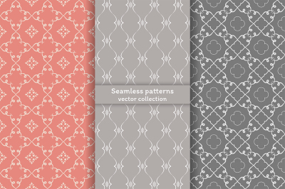 Beautiful stylish seamless patterns