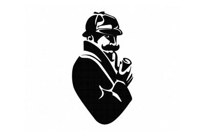 detective, investigator, hat, pipe, svg, dxf, png, eps, cricut