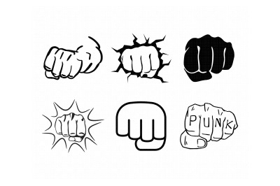 punch, knuckles, fist svg, dxf, png, eps, cricut, silhouette, cut file