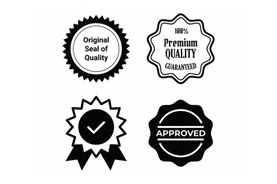 quality seal, approval stamp, brand svg, dxf, png, eps, cricut