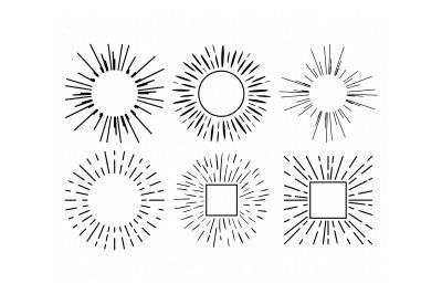 sun rays, sunburst, beam, burst svg, dxf, png, eps, cricut, silhouette