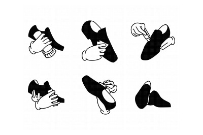 shoe care instructions svg, dxf, png, eps, cricut, silhouette