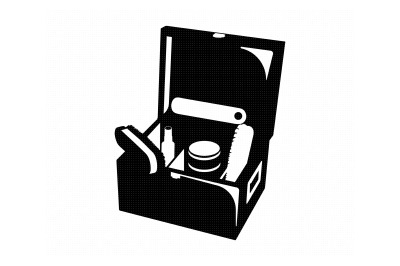 shoe care tool kit, tool box, valet box svg, dxf, png, eps, cricut