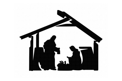 true story, christmas, nativity, manger svg, dxf, png, eps, cricut