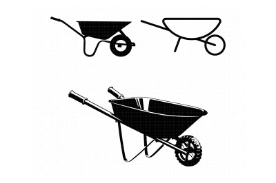 wheelbarrow svg, dxf, png, eps, cricut, silhouette, cut file, clipart