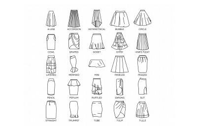 women's skirt svg, dxf, png, eps, cricut, silhouette, cut file