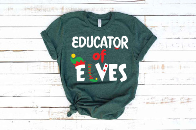 Educator Of Elves SVG Santa's Elf Christmas elf  santa hat svg 1599S