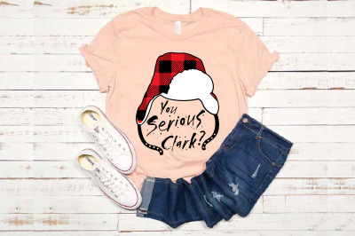 You Serious Clark? with Flap Lumberjack Hat SVG Christmas Holiday 1612