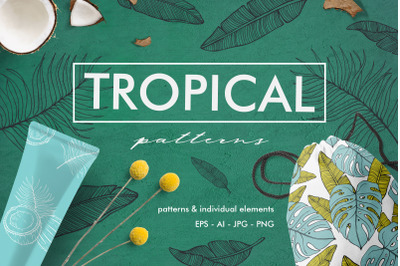 Hand Drawn tropical patterns