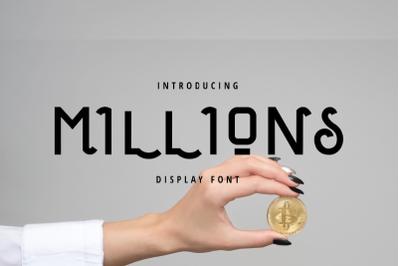 Millions DisplaY Font