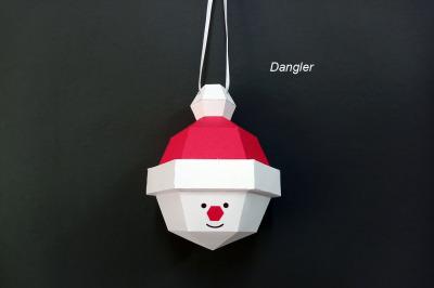 DIY Christmas bauble Santa Claus - 3d papercraft