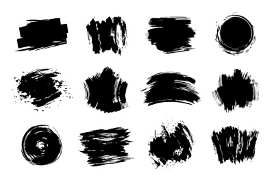 Graphic texture elements. Grunge stroke, artistic texture brush stroke