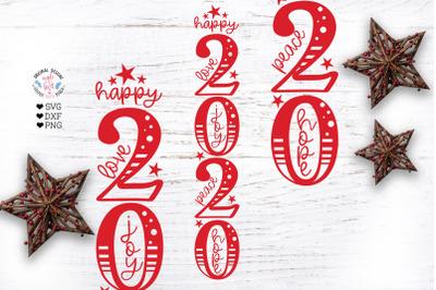 Happy 2020 Vertical SVG