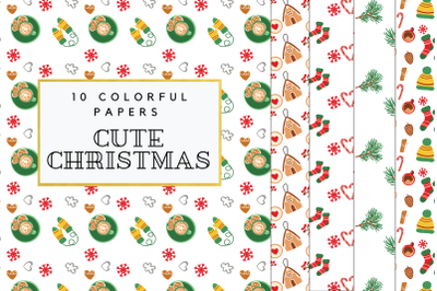 Cozy Winter Digital Paper, Christmas Winter Background, Cute Christmas