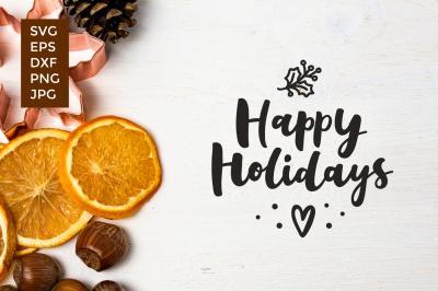Happy Holidays vector cut files