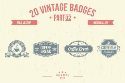 2O Vintage Badges (CLEAR & CRACK) 02
