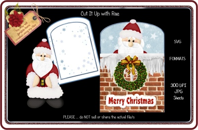 168 Santa In The Chimney  HAND & MACHINE Formats