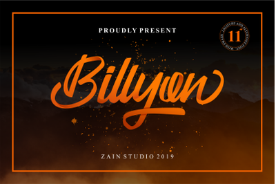 Billyon Handwritten Script Fonts