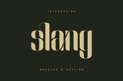 Slang - Ligature Font