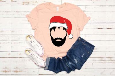 My Santa SVG Santa Claus Face beard Christmas Santa Claus SVG 1621s