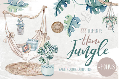 Watercolor set HOME JUNGLE